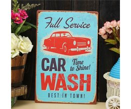 Wanddecoratie Bord Car Wash