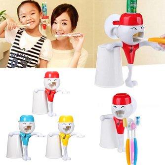 Grappige Tandpastadispenser met Tandenborstelhouder voor Kinderen