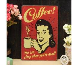 Decoratie Bord Koffie