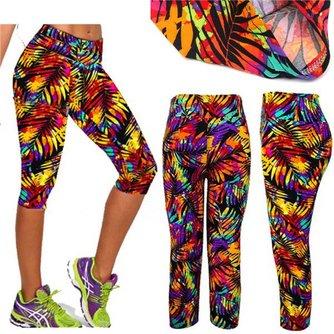 Yoga Legging Print met Hoge Taille