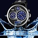 Stoer Mannen Horloge LED PU Leer Analoog Digitaal