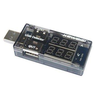 USB Stroommeter en Oplader In Eén