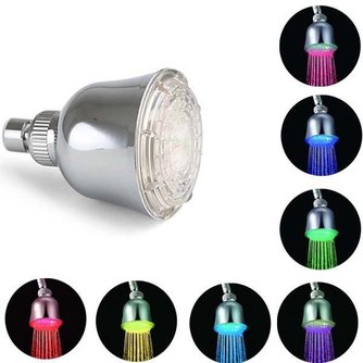 Sensor LED Douchekop met 3 Kleuren