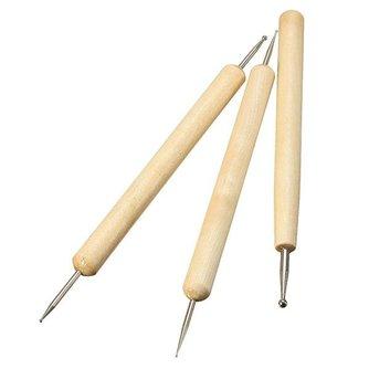 Pennen Voor Versieren Van Klei 3 Stuks