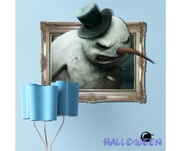 Muursticker Snowman