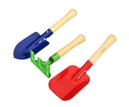 3 IJzeren Tuingereedschap Tools met Houten Handvat