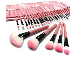 Roze Kwasten voor Make-up (32-delig)
