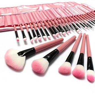 Roze Kwasten voor Make-up (32-delig)
