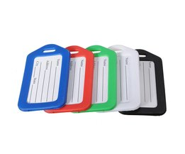 Kofferlabel in 5 Kleuren Verkrijgbaar