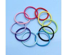 Gekleurde Haarelastiekjes (10 Stuks)