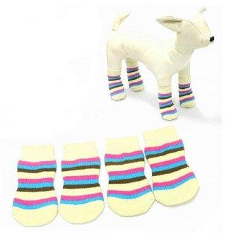 Gestreepte Sokken Voor Honden
