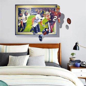 3D Muurdecoratie Sport American Football