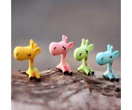 Miniatuur Dieren Giraffe