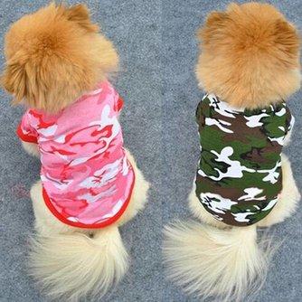 Camouflage T-shirt Voor Honden