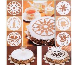 Cake Stencils 6 Stuks