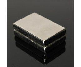 Neodymium N50 Magneetblok 2 Stuks