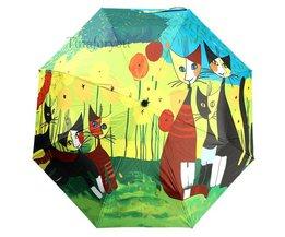 Paraplu's met Katten Design