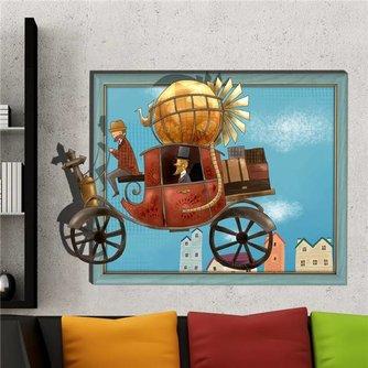 Decoratieve Muursticker met 3D Pompoenkoets