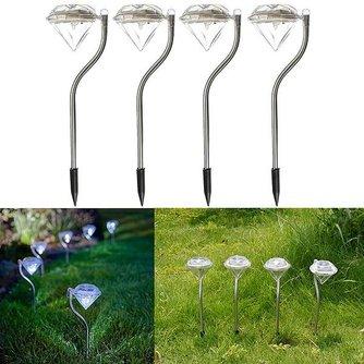 Diamantvormige LED Tuinpadverlichting 4 Stuks