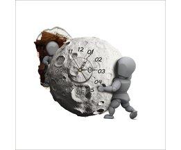 Prachtige 3D Klok Sticker met Maan