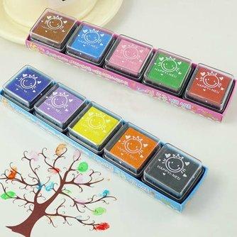 Stempelkussens met Gekleurde Inkt voor Kinderen