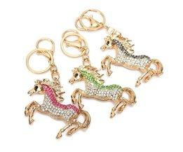 Mooie Paard Sleutelhanger met Strass