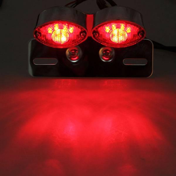 LED Motor Achterlicht met Kentekenhouder