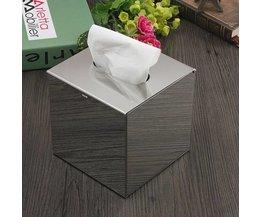 Zilverkleurige Tissuehouder van Roestvrij Staal