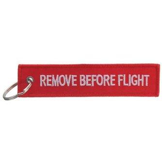 """Sleutelhanger met Tekst """"Remove Before Flight"""""""