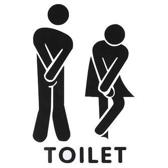 Stickers voor WC Deur