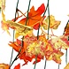 Nep Bladeren Met Herfstkleuren