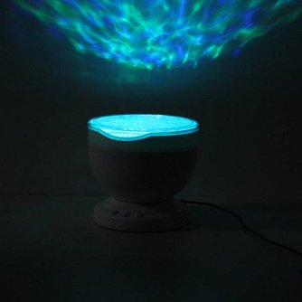 Kleurrijke LED Aurora Nachtlamp met Speaker