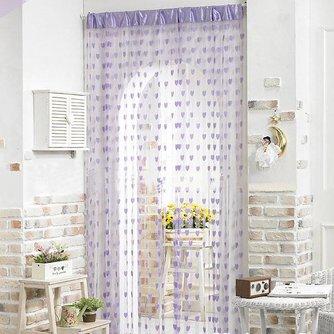Romantisch Gordijn met Hartjes van Polyester 2 x 1 Meter