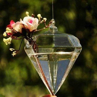 Hangvaas Glas Diamantvorm