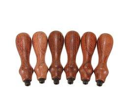 Stijlvol Handvat van Rozenhout voor Stempels