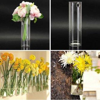 Glazen Wandvaas voor Bloemen en Planten