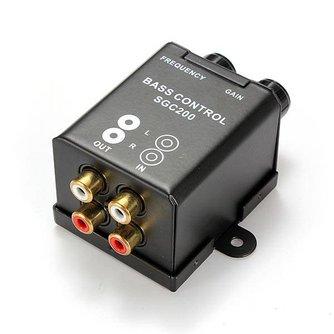 Bass controller voor in de Auto Met 4 RCA Aansluitingen