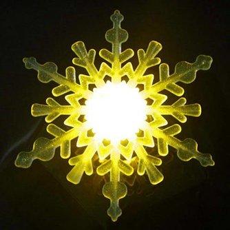 Van Kleur Veranderend Sneeuwvlok Lampje