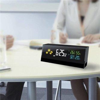Weerstation Wekker met Buitensensor en LCD-Verlichting
