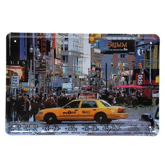 Emaille Reclameborden Taxi Broadway