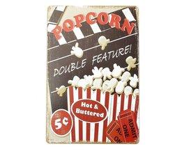 Nostalgische Reclameborden Popcorn