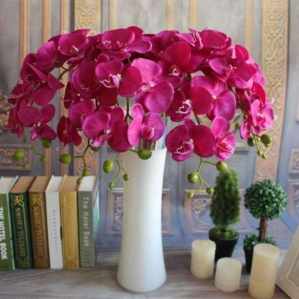 Orchidee Kunstbloemen van Zijde in 3 Kleuren I MyXLshop (SuperTip)