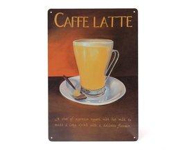 Caffe Latte Decoratiebord