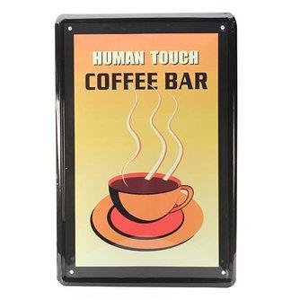 Vintage Coffee Bar Wandplaat van Metaal