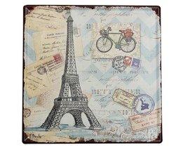 Eiffeltoren Decoratie Bord