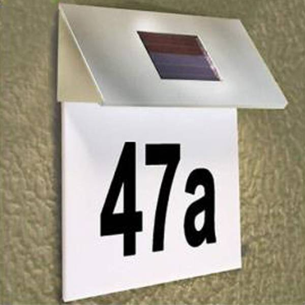 huisnummer verlichting op zonne energie