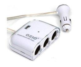 Sigarettenaansteker Auto Splitter USB 3 Poorten