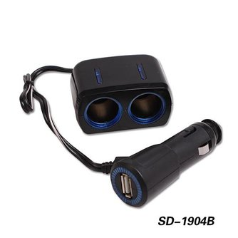 Autolader Splitter 2 Poort USB