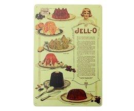 Metalen Wandborden Vintage Taart