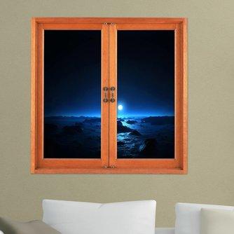 3D Nacht Muursticker van PVC 580 x 580mm